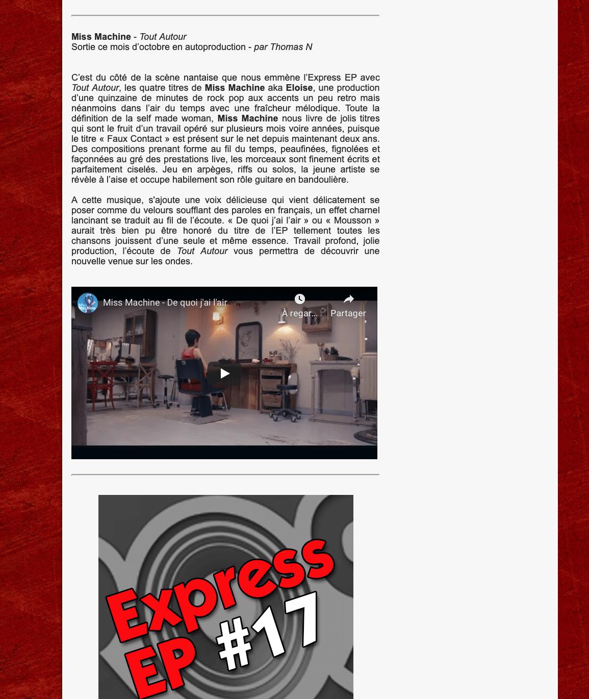 Capture d'écran La grosse radio, EP Express