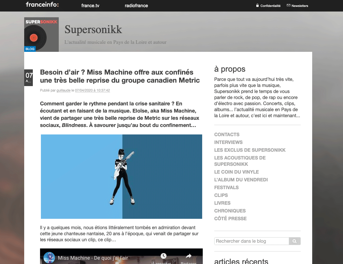 Capture d'écran Supersonikk METRIC