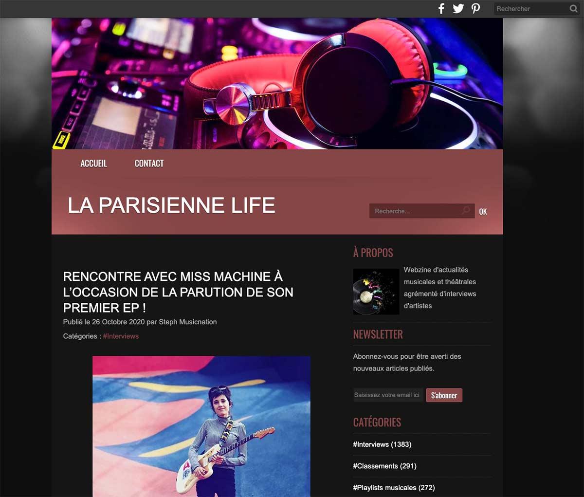 La parisienne Life : interview